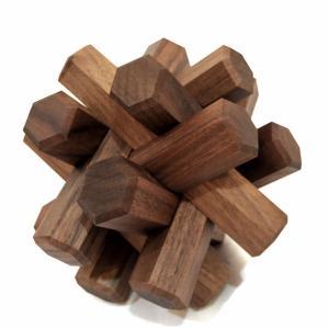 組み木立体パズル 12本組 ウォールナット材|maaoyama
