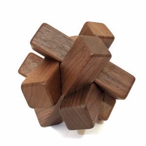 組木立体パズル 6本組 ウォールナット材|maaoyama