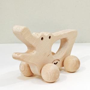 木のおもちゃ にぎり車 ワニ|maaoyama