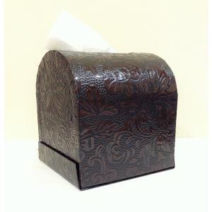 うるし紙 ティッシュボックス 茶色|maaoyama