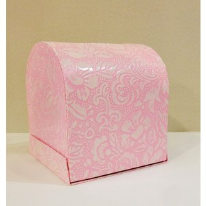 うるし紙 ティッシュボックス 桃色|maaoyama