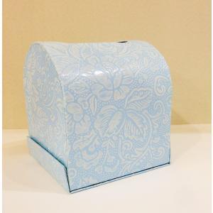 うるし紙 ティッシュボックス 水色|maaoyama