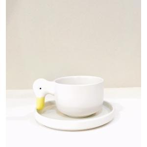 陶器製のアヒルのカップ&ソーサー ceramic japan|maaoyama
