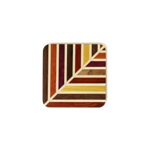 箱根寄木細工のモダンな柄の無垢のコースター 葉柄|maaoyama
