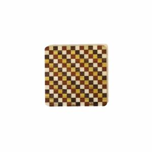 箱根寄木細工のモダンな柄の無垢のコースター ブロック柄|maaoyama