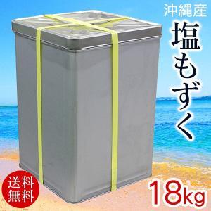 沖縄産 塩もずく 18kg 業務用 一斗缶 冷蔵発送|maasanichi