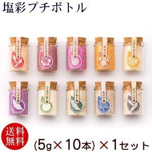 塩彩プチボトル 10フレーバー (5g×10本)×1セット(送料無料)