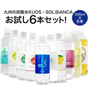 炭酸水 KUOS-クオス- 500ml×5本 フレーバー シリーズ 国産の商品画像