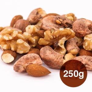 高品質 3種のミックスナッツ 250g 生くるみ アーモンド カシューナッツ 自然塩 食物繊維たっぷ...