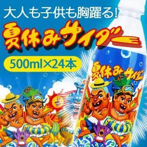 【520円クーポン配布中】 サイダー 500m×24本 夏休みサイダー