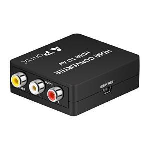 Portta HDMIをコンポジットへ変換、HDMI to AV変換アダプタ 1080P対応 HDM...