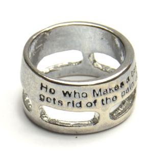 悩み苦悩するからこそ人間なんだ メッセージ リング 指輪 レディース メンズ アクセサリー p30-...