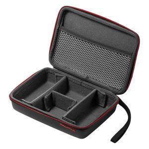 トラベルポーチ 収納ケース 充電器ポーチ セミハード PC周辺小物整理 収納ポーチ用 ケーブル AC...