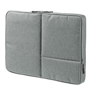 MacBook Pro ケース 15インチ 両面収納 PCインナーバッグ グレー