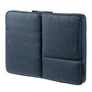 MacBook Pro ケース 15インチ 両面収納 PCインナーバッグ ネイビー