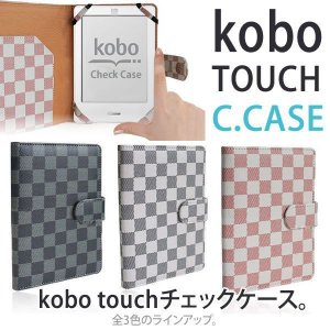 kobo touch専用 カバー チェック柄|macaron0120