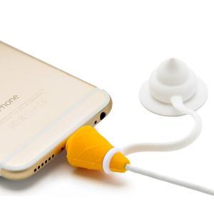 ケーブルバイト iphone スマホ ソフトクリーム型 ケーブル プロテクター|macaroni