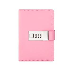 鍵付き 日記 手帳 秘密 ノート ミニ B7 最小サイズ ダイヤル ナンバー ロック|macaroni|12