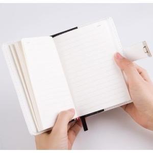 鍵付き 日記 手帳 秘密 ノート ミニ B7 最小サイズ ダイヤル ナンバー ロック|macaroni|07