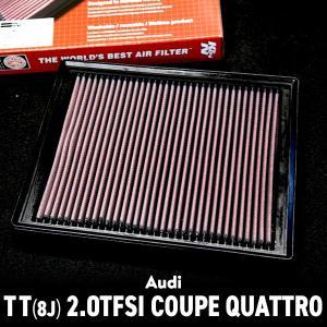 ケイアンドエヌ (グループM) リプレイスメント ハイフローエアフィルター AUDI/アウディ TT(8J) 2.0TFSI COUPE(QUATTRO)用 33-2865 送料サイズ100|macars-onlineshop
