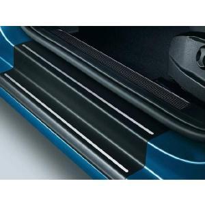 Volkswagen / フォルクスワーゲン / VW 純正アクセサリー ドアシルプロテクションフィルム(ブラック/シルバーライン) GOLF7/ゴルフ7 送料サイズ80|macars-onlineshop