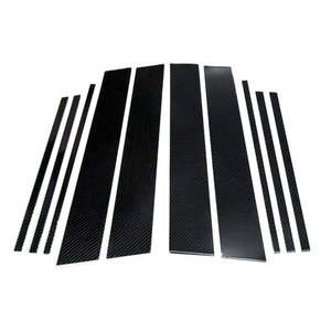 AutoStyle ブラックカーボン・ピラーパネル10pcs Volkswagen TIGUAN/ティグアン(5N)用 送料80サイズ|macars-onlineshop