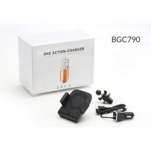 BREX 『OneAction Charger』 電動アーム開閉式スマートフォンホルダー エアコン吹き出し口固定タイプ (ユニバーサルモデル)|macars-onlineshop