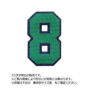 アイロンワッペン カラフル二重枠(数字20cm)|maccut