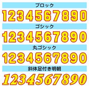 アイロンワッペン カラフル二重枠(数字20cm)|maccut|02