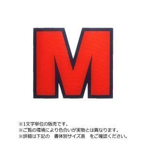 アイロンワッペン アルファベット英字5cmカラフル二重枠|maccut