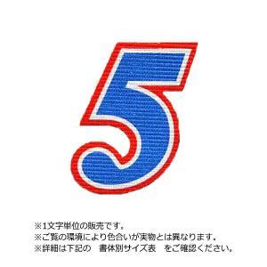 アイロンワッペン 数字三重枠(25cm)|maccut