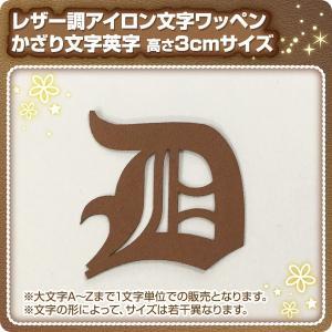 アイロンワッペン レザー調(3cmサイズ飾り文字アルファベット)|maccut
