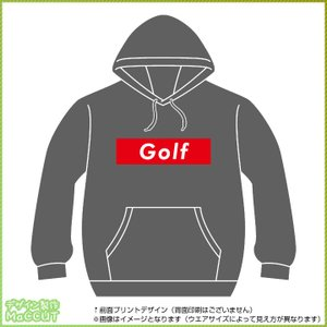 ゴルフパーカー  ストリート系ボックスロゴデザイン maccut