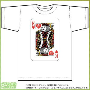 トランプ風キングTシャツ絆 ドライTシャツ(白) maccut