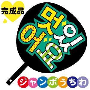 韓流コンサートジャンボうちわ かっこいい メッセージ入り完成品|maccut