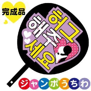 韓流コンサートジャンボうちわ ハグしてください メッセージ入り完成品|maccut