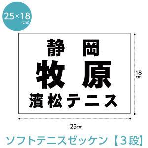 ソフトテニスゼッケン3段組 W25cm×H18cm(H21年〜仕様)