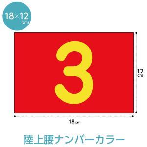 陸上レーンナンバーカード(選べる生地カラー腰用W18cm×H12cm)