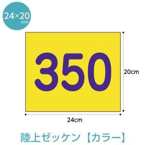 陸上競技用ゼッケン(選べる生地カラー) W24cm×H20cm