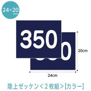 陸上ゼッケン2枚組(選べる生地カラー) (W24cm×H20cm)
