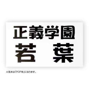 バドミントンゼッケン(デザイン書体) W25cm×H15cm maccut