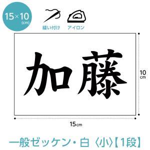 ゼッケン(一般1段組小サイズ) W15cm×H10cm|maccut