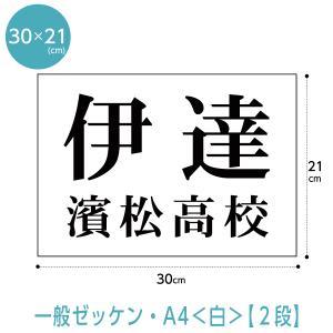 ゼッケン(A4サイズ2段組) W30cm×H21cm|maccut