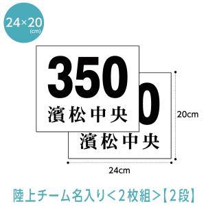 陸上ゼッケン2枚組み 駅伝・チーム名入り(W24cm×H20cm)