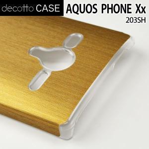 AQUOS PHONE Xx 203SH クリア ハードケース 【アッシュゴールド 柄】|machhurrier