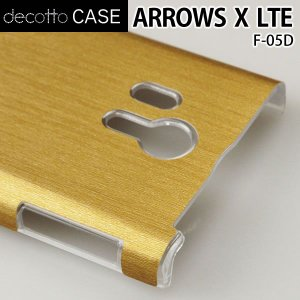 ARROWS X LTE F-05D クリア ハードケース 【アッシュゴールド 柄】|machhurrier