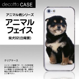 iPhone5 / iPhone5s / iPhoneSE 専用スマホカバー 【アニマル 柄 / 犬 柴犬 白背景 】 [クリア(透明)ケース]|machhurrier