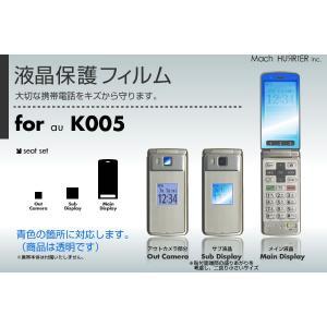 K005保護フィルム 3台分セット|machhurrier