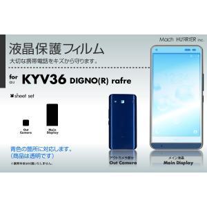 au DIGNO rafre KYV36 専用液晶保護フィルム 3台分セット|machhurrier