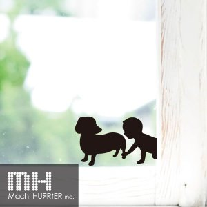ウォールステッカー 【 スイッチステッカー / 赤ちゃん&犬02 柄】|machhurrier